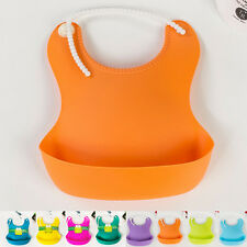 Aprons Baby Feeding Lunch Bibs Saliva Unisex Kids Infant Waterproof Silicone New
