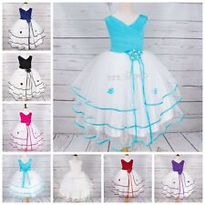 New Flower Girl Toddler Princess Dress Party Prom Holiday Sleeveless Dress Gift