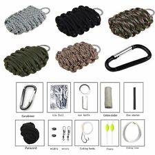 Outdoor Survival Emergency Paracord Tools Kit  Camping Hiking Fishing Key Ring