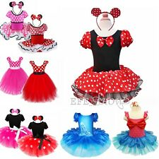 Flower Kid Baby Girls Minnie Mouse Christmas Cute Costume Fancy Dress Outfit US