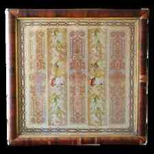 19th century Victorian Floral Needlepoint Needlework Berlin Work Embroidery
