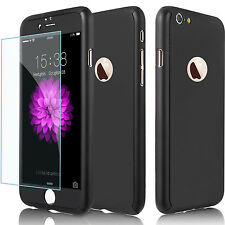 360°Full Body PC Protective Case Cover Skin + Tempered Glass For Apple iPhone M