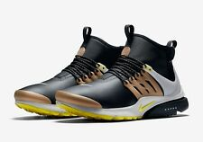 Nike Air Presto Mid Utility Mens Size Running Shoes Black Yellow Gold 859524 002