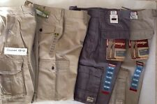 Men's New Flat Front Cargo Casual  Pants - CHOICE Size & Color
