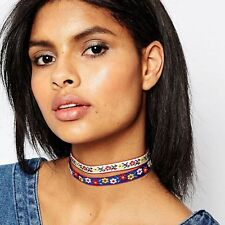 Collar Flower Bohemian Choker Jewelry Ethnic Necklace Embroidery