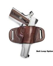 QUICK DRAW BELT SLIDE HOLSTER FOR BERETTA 9MM NANO - RIGHT HAND- BLACK / BROWN