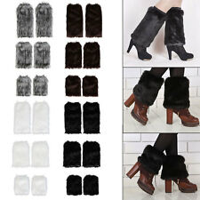Winter Faux Fur Leg Warmers Fluffy Shaggy Boot Shoes Covers Ankle Sleeve Muffs