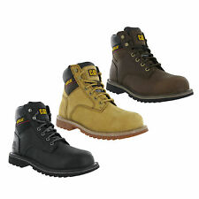 CAT Caterpillar Electric Safety Steel Toe Mens Suede Leather Work Boots UK6-12