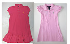 RALPH LAUREN Polo Girls Dress Sz 4 4T Kids Toddler Short Sleeve Cotton NEW NWT