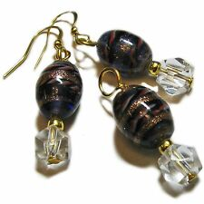 Pretty Golden Glass Bead Earrings and Pendant Set By SoniaMcD