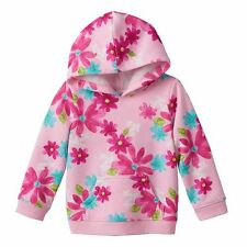 Jumping Beans® Print Hoodie Baby Girl 12-24 M Pink-Multi Bows-Hearts-Flowers NWT
