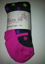 Infants Girls Route 66 Brand Sweater tights Gray Pink Polkadots 0-12M  2-4 years