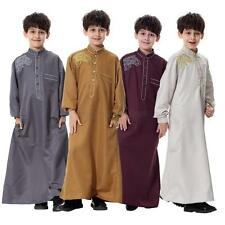Vouge Child Boys Saudi Thobe Thoub Robe Daffah Dishdasha Islamic Arabian Kaftan