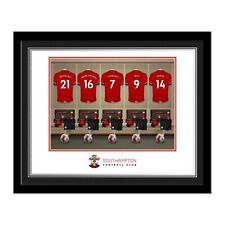 Personalised SOUTHAMPTON FC Dressing Room Print in Folder or Frame