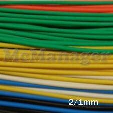 2mm 2/1mm Heat Shrinking Tubes Various  Length Colour Wire Insulation Sleeve