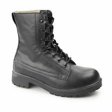 Grafters ASSAULT Mens Ladies Non-Safety Leather Lightweight Work Boots Black