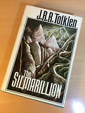 J.R.R. Tolkien, The Silmarillion, First American Edition 1977, Map, HB DJ VGC