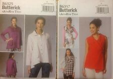 Butterick 6325, 6357  Misses Shirt  Sizes:  X Small - XX Large  You Pick!