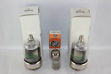 3-Piece Set NIB NOS GE JAN 6146W & 12BY7A Triplett 3444 Tested STRONG for Swan