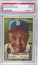 1952 Topps #294 Walker Cooper PSA 2 Boston Braves Baseball Card
