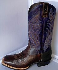 MENS ARIAT 10018719 GLAZED TWILIGHT CATALYST PRIME COWBOY BOOTS - SQUARE TOE
