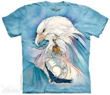 "EAGLE ""PEACE AT LAST"" ADULT T-SHIRT THE MOUNTAIN NATIVE AMERICAN"