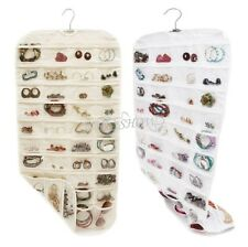 New Closet Storage Canvas 80 Pocket Hanging Jewelry and Accessory Organizer Bag