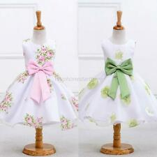 Toddler Baby Kid Girl Floral Princess Dress Party Pageant Wedding Tutu Dresses