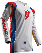 2017 THOR MX PULSE AIR PROFILE JERSEY WHITE / WHITE RED MX MOTOCROSS MENS ADULT