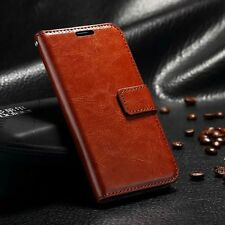 Luxury Leather Magnetic Flip Card Wallet Case Cover For Various Mobile Phones R