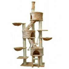 Cat Tree Condo Cats Perch House Loft Stand Bed Hammock Scratch Post Furniture
