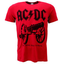 AC/DC For Those About To Rock Red T-shirt Official Licensed Music