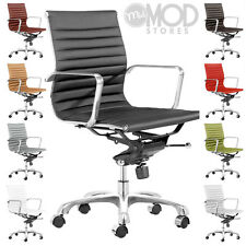 Executive Management Lider Office Chair Low Back Ribbed Back Modern Group Chair