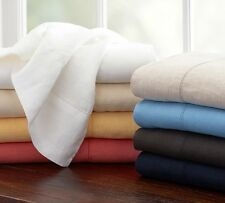 Sale 800-Thread-Count-3PC-Ultra-Soft-Flat-Sheet-Set-Solid-100% Egyptian-Cotton