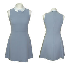 Brand New TOPSHOP Woman/Lady Peter Pan Collar Blue Skater Dress EX CHAINSTORE