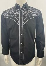Liquidwest Men's Fancy Long Sleeve Western Shirt with Rhineston Snap Button.