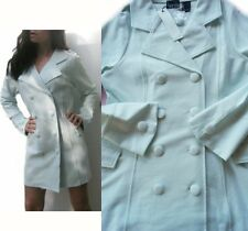 """NEW! $120 """"Kersh"""" Sexy, Green Frost Color, Double Breasted Pea Coat Jacket, M"""