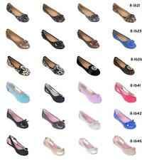 Women Ballerina Buckle Stylish Flats, PU Leather Work & Casual Office Shoes (7)