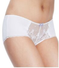 New Ladies M&S Silky Embroidered Lace Shorts White 8 10 12 14 & 18  RRP £7.50