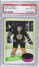 1980-81 Topps #140 Ray Bourque PSA 8 Boston Bruins RC Rookie Hockey Card