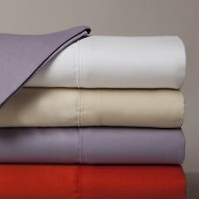 """600-Thread-Count 1PC Super Soft Fitted Sheet Solid 100% Cotton 30"""" Deep Pocket"""