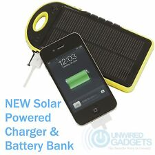 NEW SOLAR PHONE CHARGER FOR MOBILE BEACH CAMPING TRAVELLING POWER BANK
