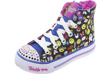 Skechers Twinkle Toes Shuffles Chat Time Black/Multi Sneakers Shoes