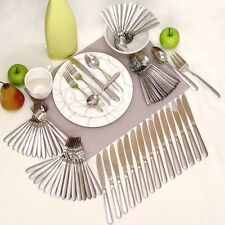 BRAND NEW ONEIDA STAINLESS STEEL FLATWARE SETS CASTLE / ZINC 82 PIECE SERVICE 16