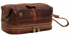 Floto Imports Luggage Positano Travel Kit Toiletry Bag, Italian Calfskin Leather