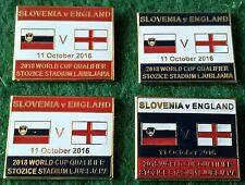 Slovenia v England 2018 World Cup Qualifier, Ljubljana 11 October 2016 Pin Badge