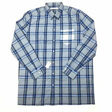 NWT $685 Givenchy Men's Blue Plaid Cuban Fit Button Down Flannel Shirt AUTHENTIC
