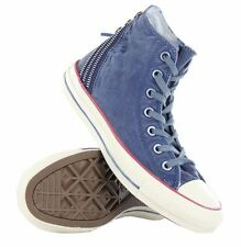 RARE WOW Converse CT Tri Zip Hi Navy Womens Trainers Washed Blue - 547317C US 10