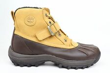Timberland Classic Canard Wheat Brown Black Leather Mens Boots 38594 1702-11