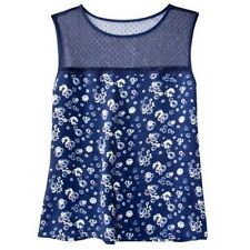 Jason Wu for Target Tank Top Floral Blue Navy